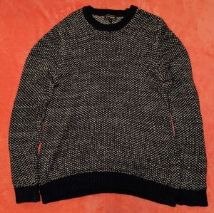 Express Knit Sweater Blue Large